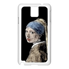 The Girl With The Pearl Earring Samsung Galaxy Note 3 N9005 Case (white) by Valentinaart