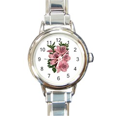 Orchid Round Italian Charm Watch by Valentinaart