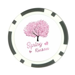 Spring Blossom  Poker Chip Card Guard by Valentinaart