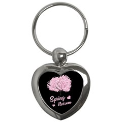 Spring Blossom  Key Chains (heart)  by Valentinaart