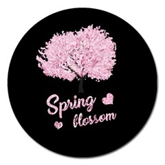 Spring Blossom  Magnet 5  (round) by Valentinaart