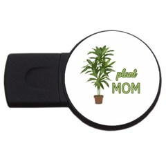Plant Mom Usb Flash Drive Round (2 Gb) by Valentinaart