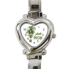 Plant Mom Heart Italian Charm Watch by Valentinaart