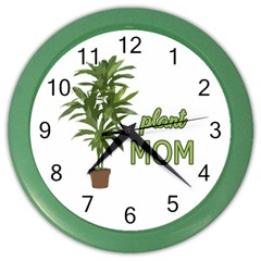 Plant Mom Color Wall Clocks by Valentinaart
