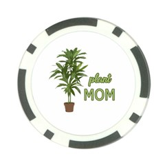 Plant Mom Poker Chip Card Guard by Valentinaart