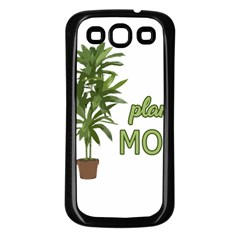 Plant Mom Samsung Galaxy S3 Back Case (black) by Valentinaart