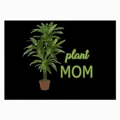 Plant Mom Large Glasses Cloth by Valentinaart