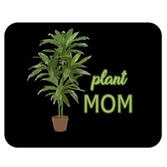 Plant Mom Double Sided Flano Blanket (medium)  by Valentinaart