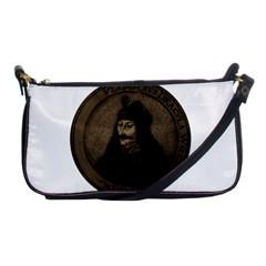 Count Vlad Dracula Shoulder Clutch Bags by Valentinaart