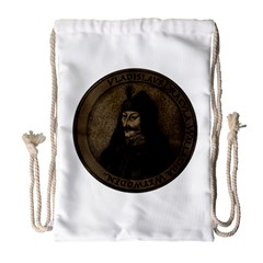 Count Vlad Dracula Drawstring Bag (large) by Valentinaart