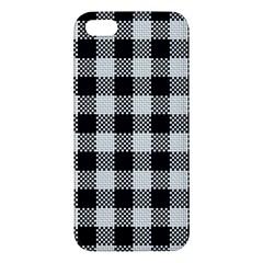 Plaid Pattern Apple Iphone 5 Premium Hardshell Case by ValentinaDesign