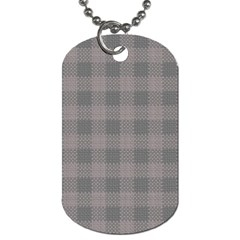 Plaid Pattern Dog Tag (two Sides) by ValentinaDesign