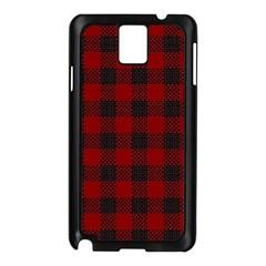 Plaid Pattern Samsung Galaxy Note 3 N9005 Case (black) by ValentinaDesign