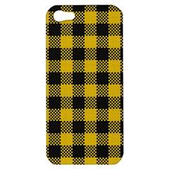Plaid Pattern Apple Iphone 5 Hardshell Case by ValentinaDesign