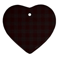 Plaid Pattern Ornament (heart) by ValentinaDesign