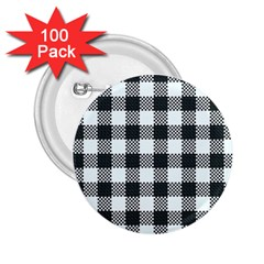 Plaid Pattern 2 25  Buttons (100 Pack)  by ValentinaDesign