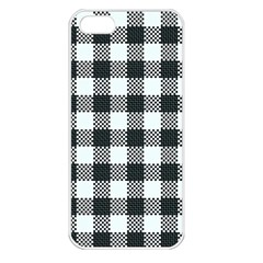 Plaid Pattern Apple Iphone 5 Seamless Case (white) by ValentinaDesign