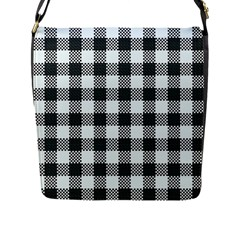Plaid Pattern Flap Messenger Bag (l)  by ValentinaDesign