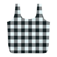Plaid Pattern Full Print Recycle Bags (l)  by ValentinaDesign