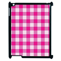 Plaid Pattern Apple Ipad 2 Case (black) by ValentinaDesign