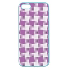 Plaid Pattern Apple Seamless Iphone 5 Case (color) by ValentinaDesign