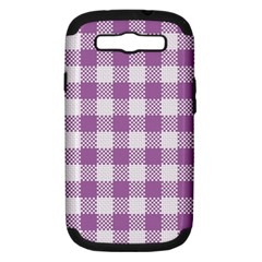 Plaid Pattern Samsung Galaxy S Iii Hardshell Case (pc+silicone) by ValentinaDesign
