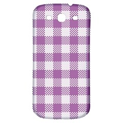 Plaid Pattern Samsung Galaxy S3 S Iii Classic Hardshell Back Case by ValentinaDesign