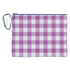 Plaid Pattern Canvas Cosmetic Bag (xxl) by ValentinaDesign