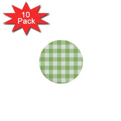 Plaid Pattern 1  Mini Buttons (10 Pack)  by ValentinaDesign