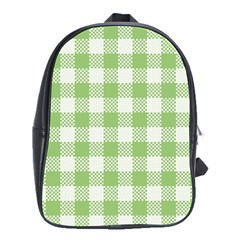 Plaid Pattern School Bags(large)  by ValentinaDesign