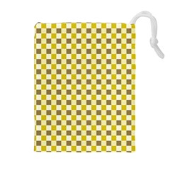 Plaid Pattern Drawstring Pouches (extra Large) by ValentinaDesign