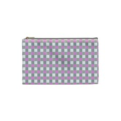 Plaid Pattern Cosmetic Bag (small)  by ValentinaDesign