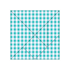 Plaid Pattern Acrylic Tangram Puzzle (4  X 4 ) by ValentinaDesign