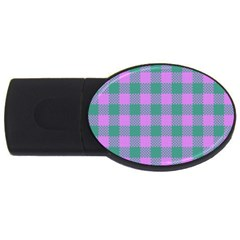 Plaid Pattern Usb Flash Drive Oval (2 Gb) by ValentinaDesign