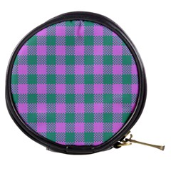 Plaid Pattern Mini Makeup Bags by ValentinaDesign