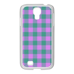 Plaid Pattern Samsung Galaxy S4 I9500/ I9505 Case (white) by ValentinaDesign