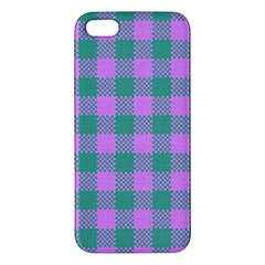 Plaid Pattern Iphone 5s/ Se Premium Hardshell Case by ValentinaDesign
