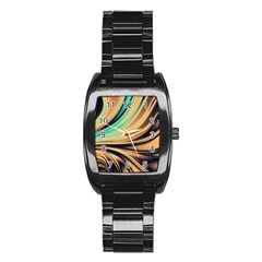 Colors Stainless Steel Barrel Watch by ValentinaDesign