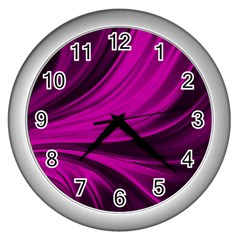 Colors Wall Clocks (silver)  by ValentinaDesign