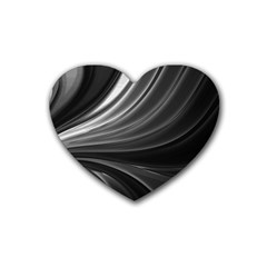 Colors Rubber Coaster (heart)  by ValentinaDesign