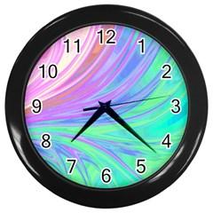 Colors Wall Clocks (black) by ValentinaDesign