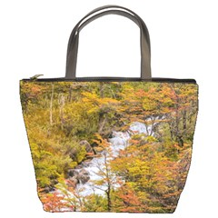 Colored Forest Landscape Scene, Patagonia   Argentina Bucket Bags by dflcprints