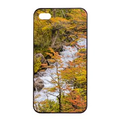 Colored Forest Landscape Scene, Patagonia   Argentina Apple Iphone 4/4s Seamless Case (black) by dflcprints