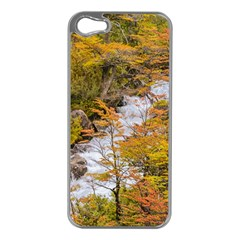 Colored Forest Landscape Scene, Patagonia   Argentina Apple Iphone 5 Case (silver) by dflcprints