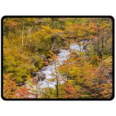 Colored Forest Landscape Scene, Patagonia   Argentina Double Sided Fleece Blanket (large)  by dflcprints