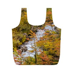 Colored Forest Landscape Scene, Patagonia   Argentina Full Print Recycle Bags (m)  by dflcprints