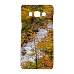 Colored Forest Landscape Scene, Patagonia   Argentina Samsung Galaxy A5 Hardshell Case  by dflcprints