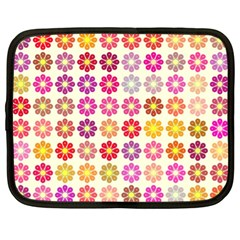 Multicolored Floral Pattern Netbook Case (xl)  by linceazul