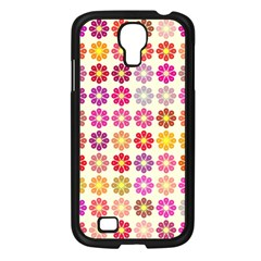 Multicolored Floral Pattern Samsung Galaxy S4 I9500/ I9505 Case (black) by linceazul