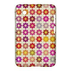 Multicolored Floral Pattern Samsung Galaxy Tab 2 (7 ) P3100 Hardshell Case  by linceazul